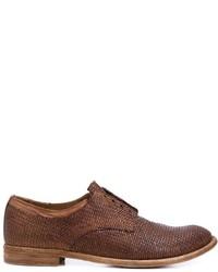 Chaussures richelieu en cuir brunes Officine Creative