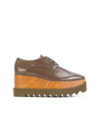 Chaussures richelieu en cuir brunes Stella McCartney
