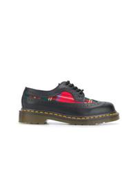 Chaussures richelieu en cuir écossaises noires Comme Des Garcons Comme Des Garcons