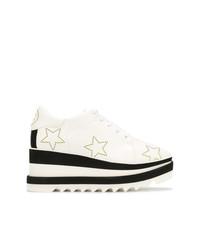 Chaussures richelieu en cuir épaisses blanches et noires Stella McCartney
