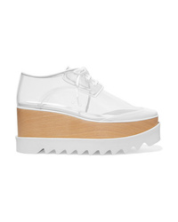 Chaussures richelieu en cuir épaisses blanches