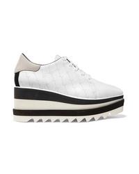 Chaussures richelieu en cuir épaisses blanches Stella McCartney