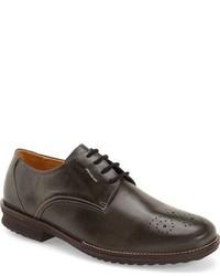 Chaussures richelieu en cuir gris foncé