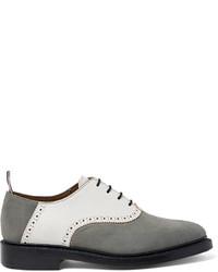 Chaussures richelieu en cuir grises Thom Browne