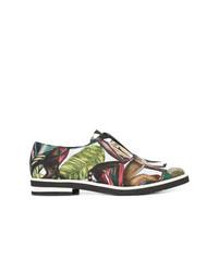 Chaussures richelieu en cuir imprimées multicolores Oscar de la Renta