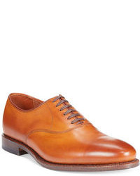 Chaussures richelieu en cuir marron clair
