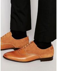 Chaussures richelieu en cuir marron clair Asos