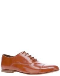 Chaussures richelieu en cuir marron clair B Store