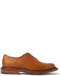 Chaussures richelieu en cuir marron clair Grenson