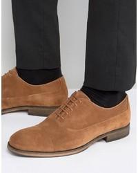 Chaussures richelieu en cuir marron clair Selected