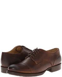 Chaussures richelieu en cuir marron foncé
