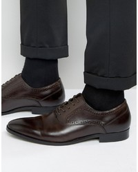 Chaussures richelieu en cuir marron foncé Aldo