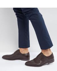 Chaussures richelieu en cuir marron foncé ASOS DESIGN