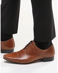 Chaussures richelieu en cuir marron foncé Asos