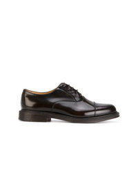Chaussures richelieu en cuir marron foncé Church's