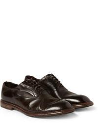 Chaussures richelieu en cuir marron foncé Dolce & Gabbana