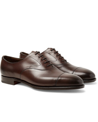 Chaussures richelieu en cuir marron foncé Edward Green