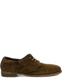 Chaussures richelieu en cuir marron foncé Guidi