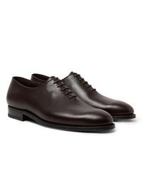 Chaussures richelieu en cuir marron foncé J.M. Weston