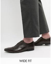Chaussures richelieu en cuir marron foncé Kg Kurt Geiger