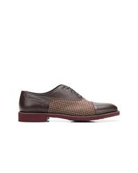 Chaussures richelieu en cuir marron foncé Moreschi