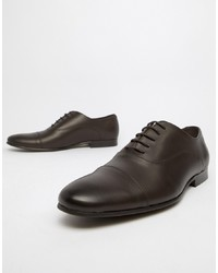 Chaussures richelieu en cuir marron foncé Office