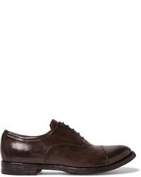 Chaussures richelieu en cuir marron foncé Officine Creative