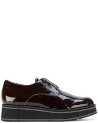 Chaussures richelieu en cuir marron foncé Paloma Barceló