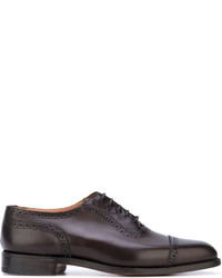 Chaussures richelieu en cuir marron foncé Tricker's