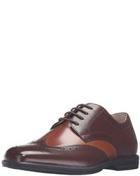 Chaussures richelieu en cuir marron