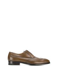 Chaussures richelieu en cuir marron a. testoni