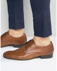 Chaussures richelieu en cuir marron Base London