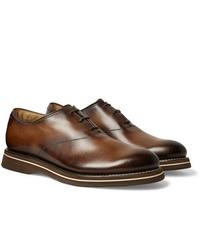 Chaussures richelieu en cuir marron Berluti