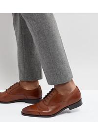 Chaussures richelieu en cuir marron Dune