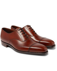 Chaussures richelieu en cuir marron George Cleverley