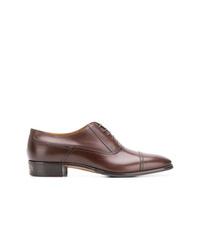 Chaussures richelieu en cuir marron Gucci