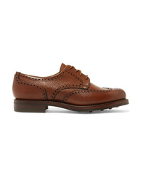 Chaussures richelieu en cuir marron James Purdey & Sons