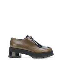 Chaussures richelieu en cuir marron Marni