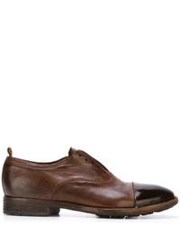 Chaussures richelieu en cuir marron Officine Creative