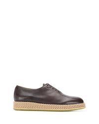 Chaussures richelieu en cuir marron Salvatore Ferragamo