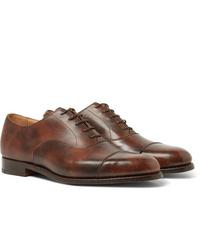 Chaussures richelieu en cuir marron Tricker's