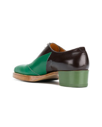 Chaussures richelieu en cuir multicolores Walter Van Beirendonck