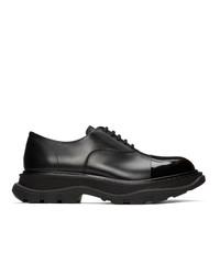 Chaussures richelieu en cuir noires Alexander McQueen