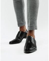 Chaussures richelieu en cuir noires ASOS DESIGN