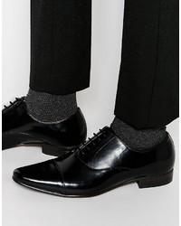 Chaussures richelieu en cuir noires Asos