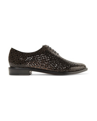 Chaussures richelieu en cuir noires Clergerie