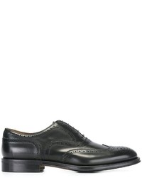 Chaussures richelieu en cuir noires Doucal's