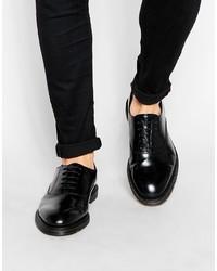 Chaussures richelieu en cuir noires Dr. Martens