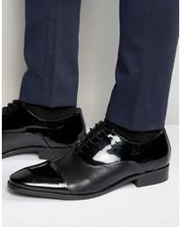 Chaussures richelieu en cuir noires Dune