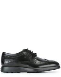 Chaussures richelieu en cuir noires Hogan